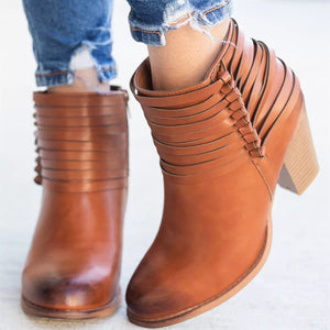 2018 Newest Fashion Stylish Thick Heel Boots