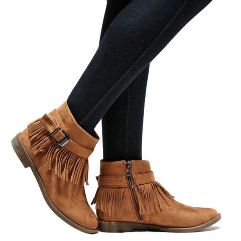 Fashion Casual Tassel Short Boots