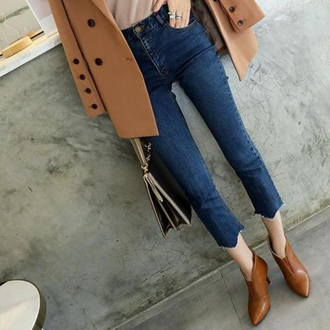 Fashion Pointed Solid Color Leather Ankle Boots