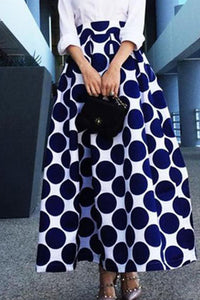 Fashion High-Waist Polka Dot Skirt