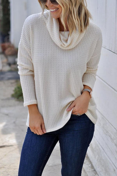 Cowl Neck  Plain T-Shirts