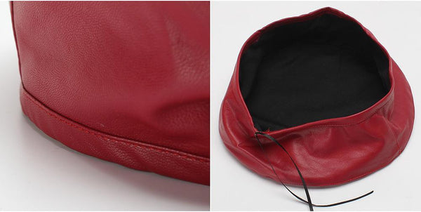 New Women's Leather Beret