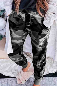 Sexy Slim Straps Camouflage Printed Casual Pants