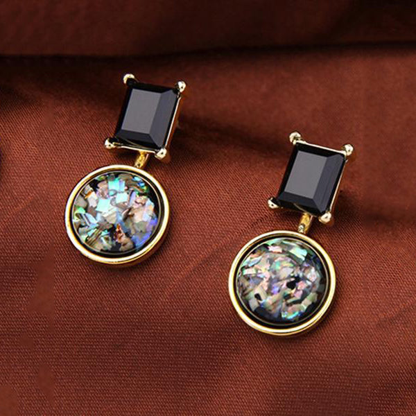 Stunning Imitation Stone Drop Earrings