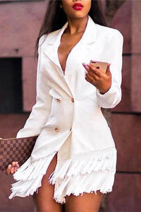 Fashion Tasseled Suit Mini Dresses