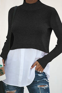European And American Long-Sleeved Knitted Trim Top