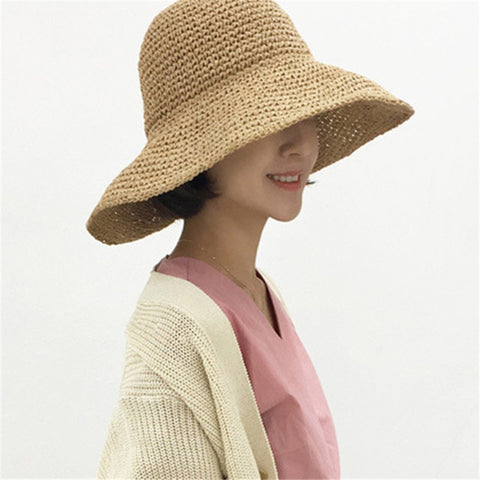 Fashion   Holiday Handmade Crochet Straw Hat