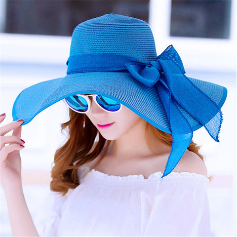Vacation   Seaside Beach Foldable Straw Hat