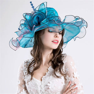 Fashion   Elegant Organza Mesh Hat