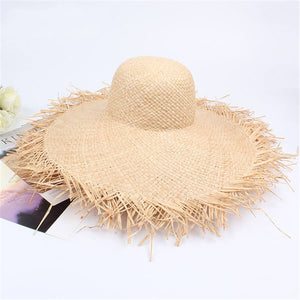 Fashion   Holiday Raw Big Straw Hat