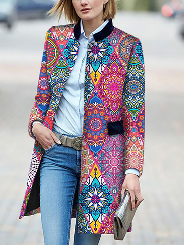 Design Printed Colour Splicing Jacket