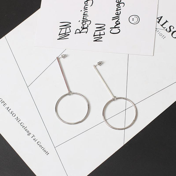 Fashion Geometry Circle Earrings