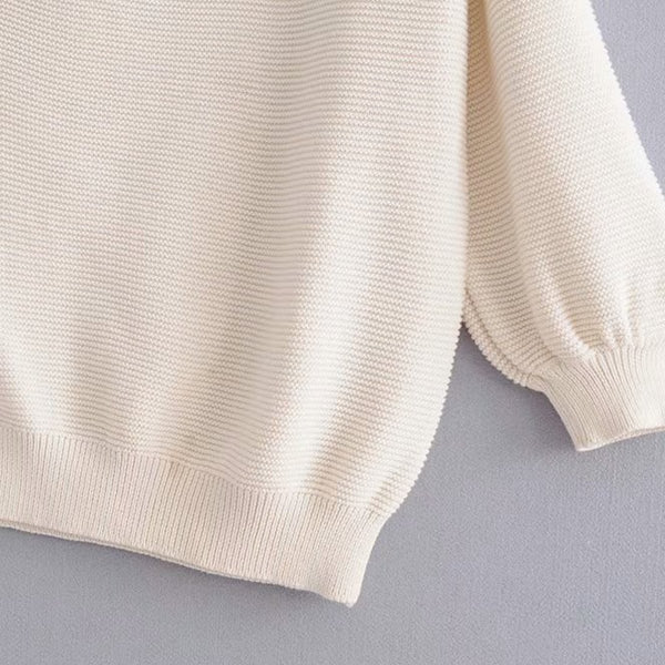 Sexy One Shoulder Long Sleeve Sweater