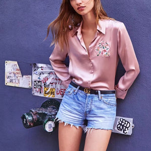 Fashion Floral Pattern Inwrought Loose Shirt