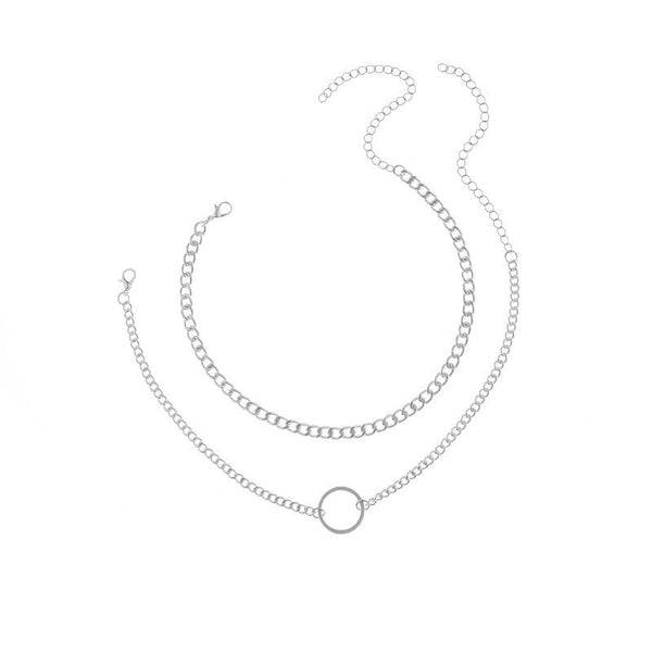 Metal Chain Clavicle Necklace