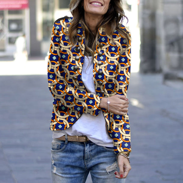 Casual Long Sleeve Printed Jacket