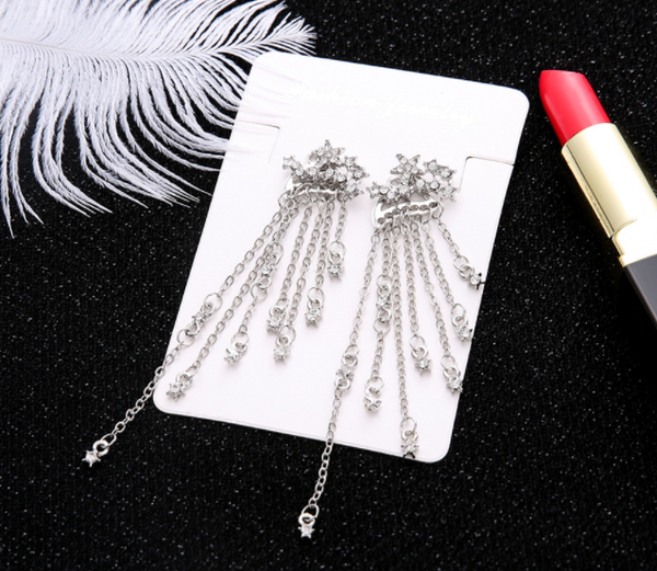 Shining Star Tassel Earrings