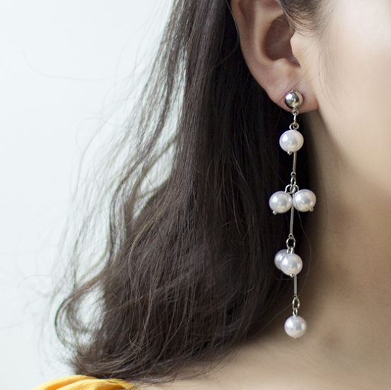 Fashion Long Pearl Tassel Earrings