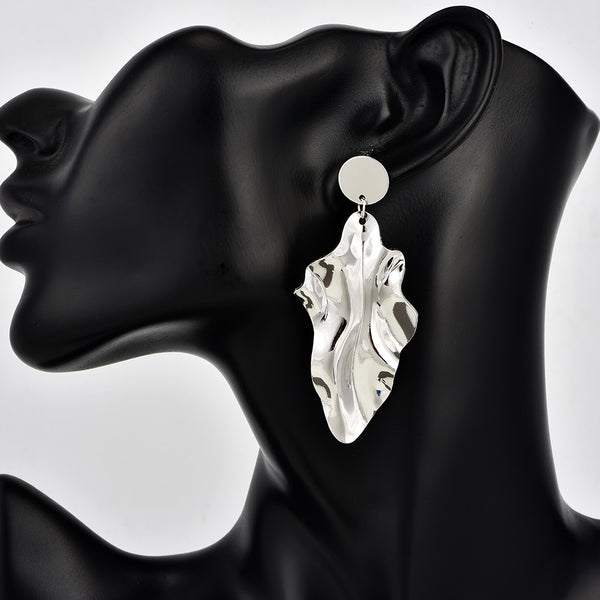 New personality fashion irregular metal women's earrings