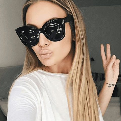 Fashion big frame vintage sunglasses