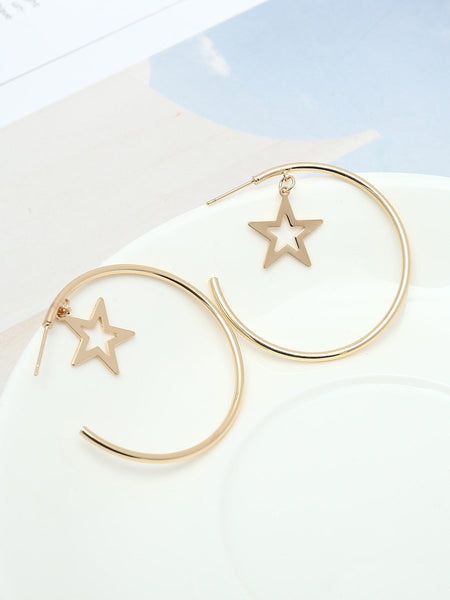 Fashion Geometric Metal Earrings