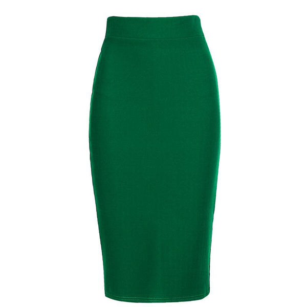 Fashion Sexy Pure Color High Elastic Bag Hip Skirt Bodycon Dresses