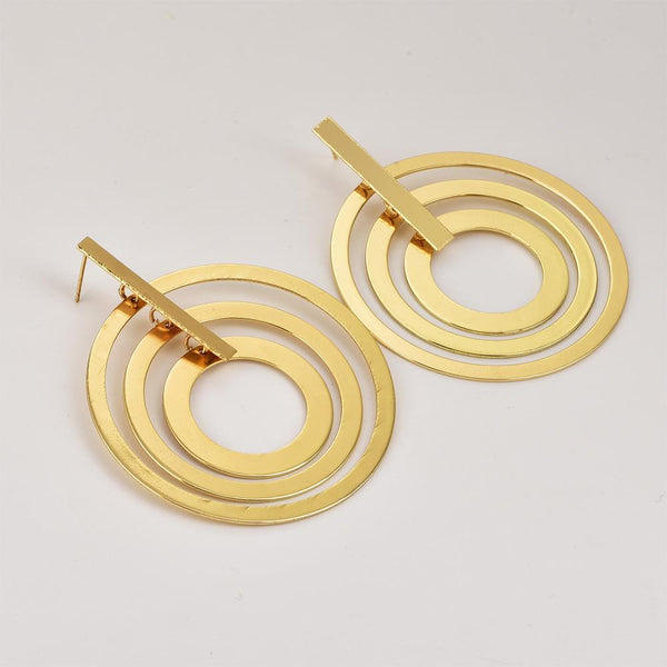 Personality trend women's 3 circle earrings