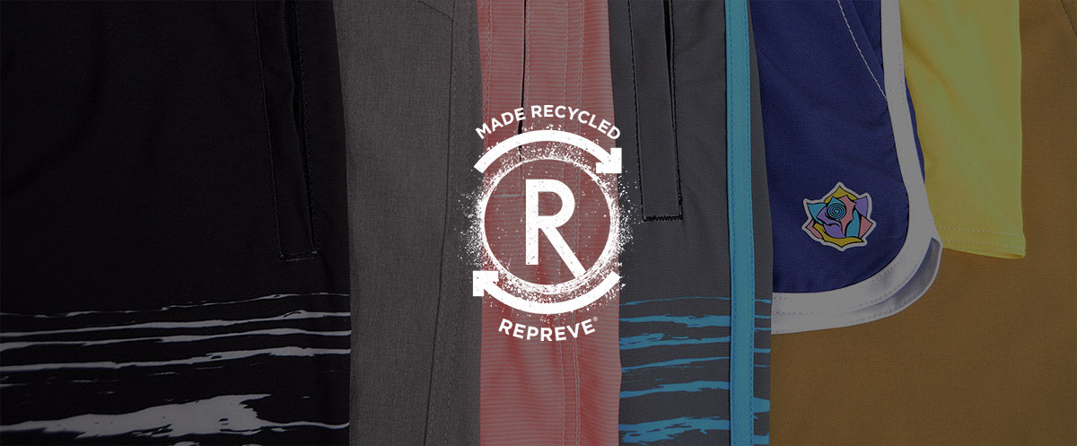cg habitats board shorts made recycled - repreve