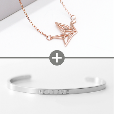 Peace Necklace + Believe