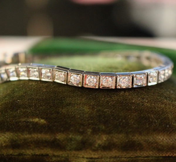 14k White Gold 5.40ctw Diamond Tennis Bracelet