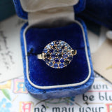 14k Yellow Gold Blue Spinel Pavé Night Sky Ring