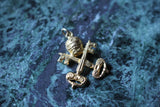 Vintage 18k Yellow Gold Papal Seal Keys of Heaven Charm