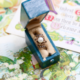 Late Victorian 14K and Pearl Floral Ring