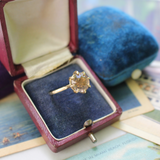 Vintage 14k Citrine Cocktail Ring Size 7.75 and sizing for Megan