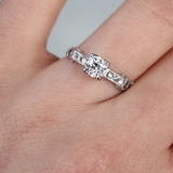 Incredible Old European Cut Art Deco Platinum Engagement Ring