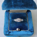 Art Deco 14k Old European Cut Diamond Engagement Ring Size 7 (sizable)