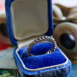 Vintage Sapphire Eternity Band Stacking Ring Size 8