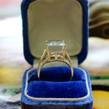 Modern Estate 14k Aquamarine Cocktail Ring