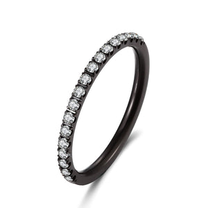 ANNEBRAUNER Side ring Black/White