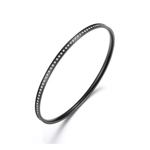 ANNEBRAUNER Bangle thin Black/White