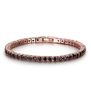ANNEBRAUNER Tennis Bracelet Rose/Black