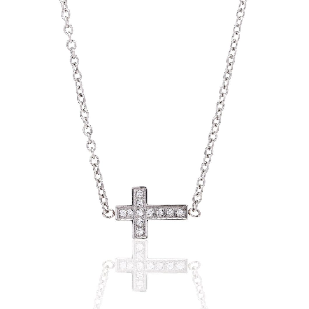 ANNEBRAUNER Small cross White