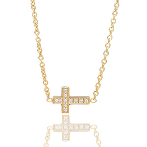 Small cross Gold/White