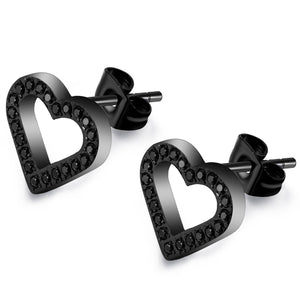 ANNEBRAUNER Heart Open Black