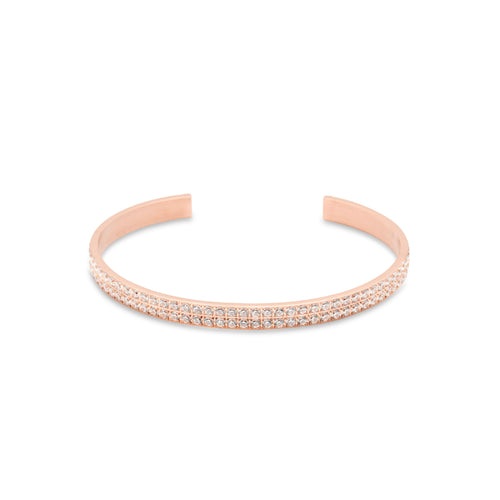 ANNEBRAUNER Bangle Open Rose/White