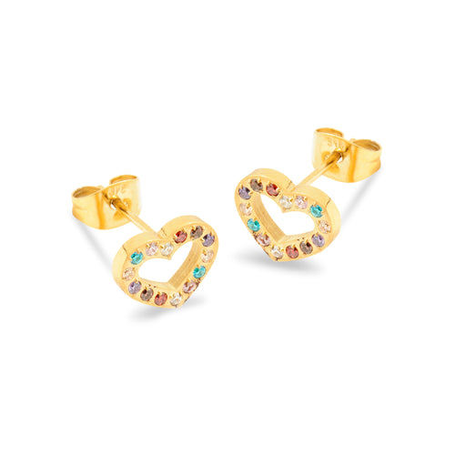ANNEBRAUNER Heart Open Gold/Multicolor