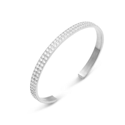 ANNEBRAUNER Bangle Open Silver