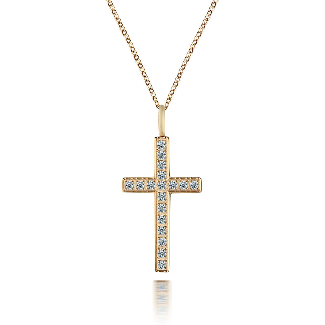 Cross Gold/white