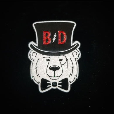 BD White Bear Pin Red