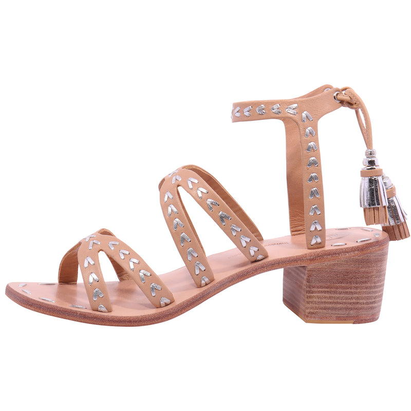 Arrows Wrap around Flat Sandal - Ice/Pewter